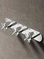 Hotbath Chap inbouw douchethermostaat met 2 stopkranen horizontale plaatsing C067CR