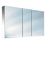 Schneider GraceLine GRL 130 3 FL spiegelkast met 3 deuren met TL verlichting 130x70cm aluminium 116130