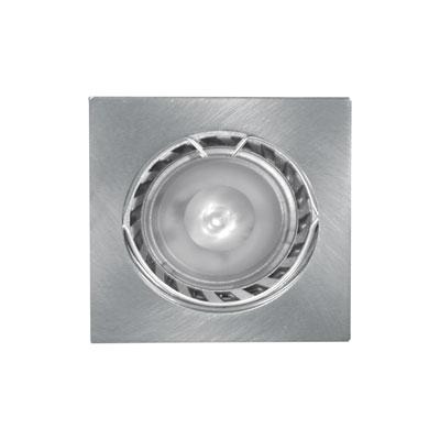 4-K vierkante LED inbouwspot - 12 V.  RVS-look LV4KIWW