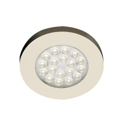 Hera ER LED ronde onder- opbouw spot - 24V RVS-look warm wit LVERWI ...