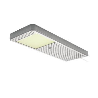 elektra plate rechthoekige led spot 230v inox look warm wit lvplawi