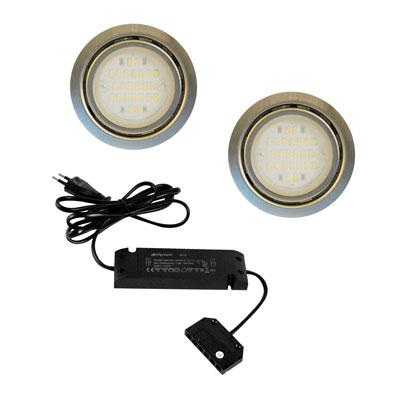 Nova LED sets - 12V.  Inox-look  LVSET2NOVI