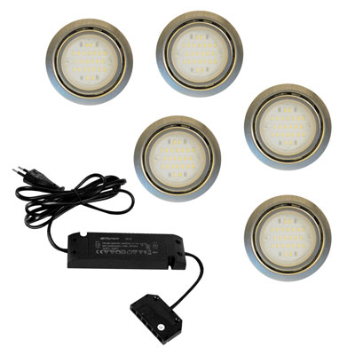 Nova LED sets - 12V RVS-look LVSET6NOVI > Inbouw LED verlichting 12V ...