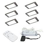 iP Emotion LED set van 6 Led spots - 12V RVS-look LVSET6IPE