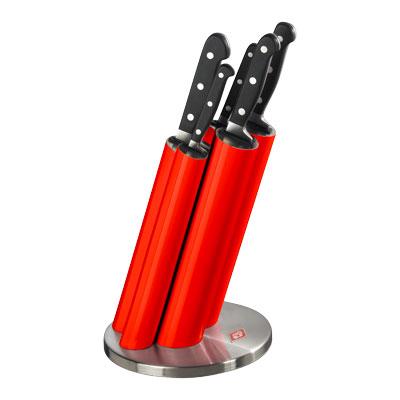 Wesco messenblok Knife Pipe rood/rvs