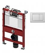 TECE inbouwreservoir 82cm front-/planchetbediening met TECEplanus bedieningspaneel RVS/zijdewit mat