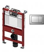 TECE inbouwreservoir 82cm front-/planchetbediening met TECEplanus bedieningspaneel RVS/RVS geborsteld