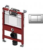 TECE inbouwreservoir 82cm front-/planchetbediening met TECEplanus bedieningspaneel RVS/RVS glans chroom