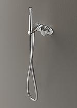 Hotbath Buddy inbouw stopkraan met doucheslang en handdouche geborsteld nikkel B070GN