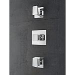 Hotbath Bro inbouw thermostaatkraan met 2 hendels chroom BR007CR