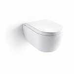 Frank&Co 2020 rimless toiletset 54cm, Geberit UP320 inbouwreservoir, bedieningspaneel wit