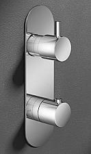 Hotbath Buddy inbouwthermostaat m. 2-weg omstel verticaal chroom B051CR