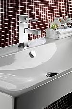 Hotbath Bloke wastafelkraan zonder waste chroom Q003SCR